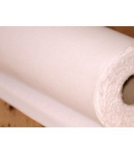 Soft mediumweight sew-in woven interlining - white