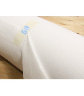 Soft mediumweight fusible woven interlining - white