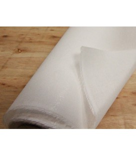 Stiff double-sided fusible woven interfacing - white